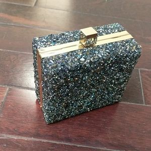 Zara Encrusted Box Mini Bag or Clutch
